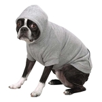 Fleece Lined Dog Hoodies - Grey