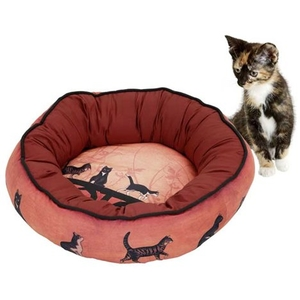 Cat bed 50 x 10 cm with cat pattern