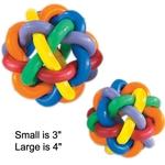Multi-Pet Multi-Colored Nobbly Wobbly II Rubber Balls
