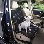 Cruising Companion Pawprint Singel Seat Covers - Black