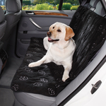 Cruising Companion Pawprint Car Seat Covers - Black