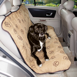 Cruising Companion Pawprint Car Seat Covers - Camel