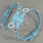 Petsters Crystal Harness Blue/White