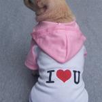 Petsters I Love U Hoodie - Pink