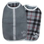 Noreaster Blanket Dog Coats - Grey