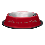 """ProSelect """"Cold Nose Warm Heart"""" Stainless Steel Bowls, Red"""
