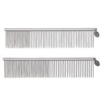 Geib Stainless Steel Greyhound Combs, Medium/Coarse
