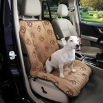 Cruising Companion Pawprint Singel Seat Covers - Camel