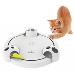 FroliCat Pounce is an automatic, rotating cat toy.