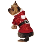 Zack & Zoey Santa Claus Sequin Dog Hoodies