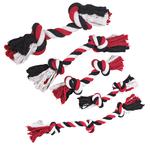 Grriggles Cotton Rope Bones, Red/Black