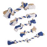 Grriggles Cotton Rope Bones - blue/beige