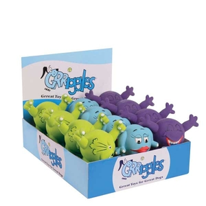 Grriggles Lil' Latex Critters Display - 12 Pieces