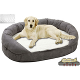 Petsters Orthopedic Memory Foam Beds - Grey - Small