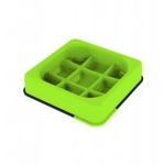 M-PETS Waffle Anti-dope bowl, square green