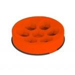 M-PETS Cavity Anti-dope bowl (plastic), round orange