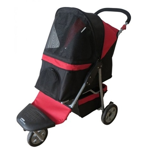 Pet Buggy - Pet Stroller - Black/Red