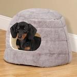 Slumber Pet Cuddler Bed  Hideaway - Grey