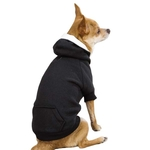 Fleece Lined Dog Hoodies - Black