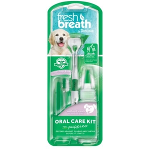 Tropiclean Fresh Breath Dog Oral Care Kit Toothpick for puppies (from 12 weeks upwards)