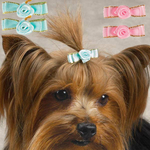 Aria Tiny Bows w/Rosettes Canisters 2 Pieces