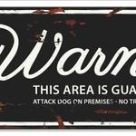 Warning plate Stafford  - 40 x 13,5 cm