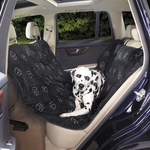 Pawprint Hammock Seat Covers - Black