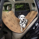 Pawprint Hammock Seat Covers - Camel