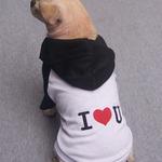 Petsters I Love U Hoodie - Black