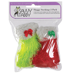 Savvy Tabby Shaggy Cat Toy - 2-Pack