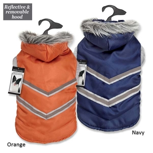 Zack & Zoey® Elements™ Arctic Reflective Coats- Navy Blue