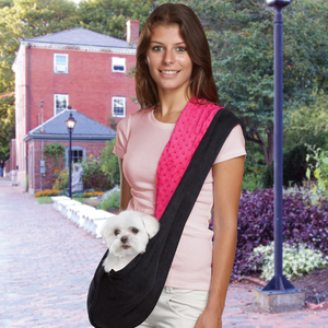 ES Collection Reversible Sling Pet Carriers - Black/Raspberry