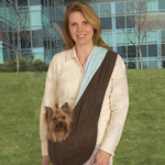 ES Collection Reversible Sling Pet Carriers - Brown/Blue