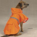 Dog Jackets with Reflective Strip - Orange