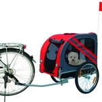 Doggy Liner Economy Bike Trailer - Up to 40 Kg - Red/Grey