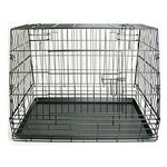 Collapsible cage with leaning longside