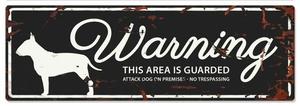 Warning plate Bull terrier- 40 x 13,5 cm