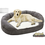 Petsters Orthopedic Memory Foam Beds - Grey - Medium