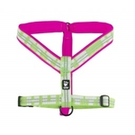 Hurtta Outdoors Padded Y-Harness - Pink/Kiwi - (New) Limited Edition