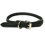 Necklace Soft leather Sewed - Black