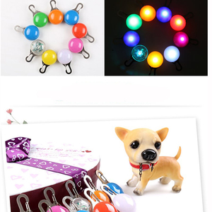LED lamp with hook, fixed or flashing shine - Several colors