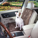 GG Pawprint Singel Seat Covers - Chocolate
