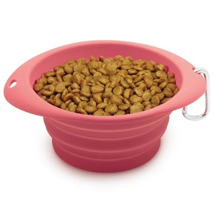 Dog is Good Never Travel Alone Bowls - Collapsable - Pink
