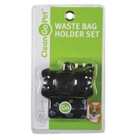 Pet Waste Bag Holders - Bone Shaped - Black