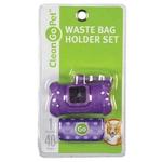 Pet Waste Bag Holders - Bone Shaped - Purple