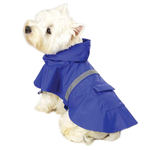 Dog Jackets with Reflective Strip - Blue