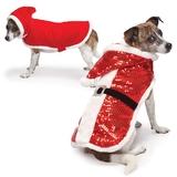 Zack & Zoey Sparkle Sequin Velvet Santa Coat