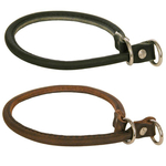 Choke Dog Collars in Leather - Alac