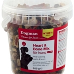 Heart and bone mix in bucket