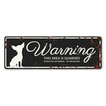 Warning plate mini with chihuahua - 12x4 cm